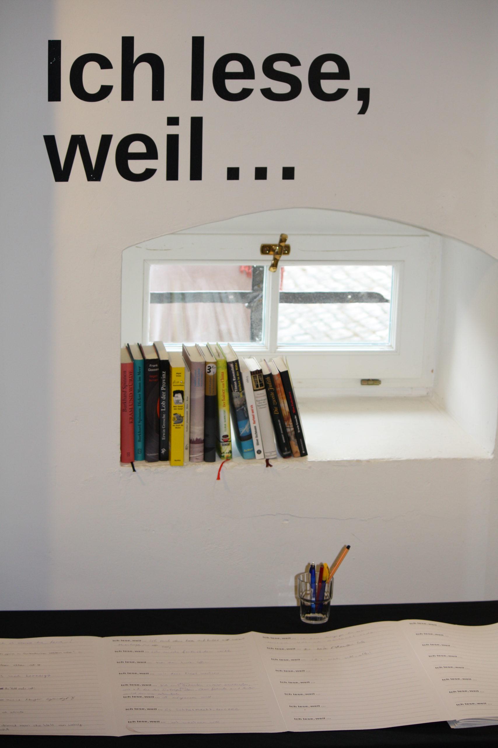 """""""Ich schreibe, weil …"""" © Kulturgut Haus Nottbeck"""