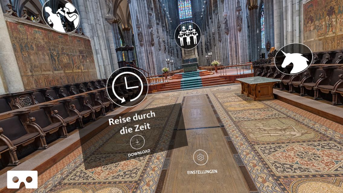 VR von der Couch: Virtueller Flug durch den Kölner Dom.